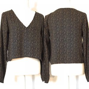 Forever 21 crop top, Sz Small, long sleeve